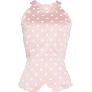 Tops - Pinup girl clothing polka dot top